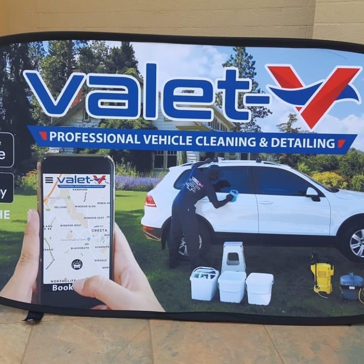 Valet V Outdoor Branding